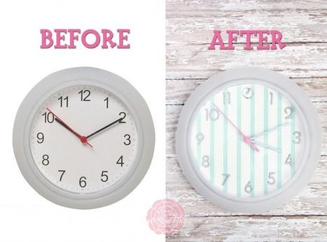 Cute Clock Makeover | Sweet Rose Studio | DIY crafts and more | Scoop.it
