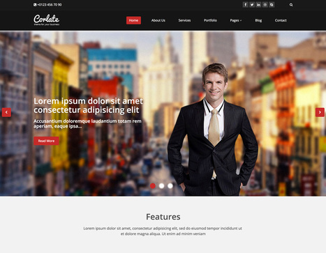 17+ Best Free Bootstrap HTML5 Website Templates 2015 - Themes Pad | Bootstrap Themes | Scoop.it