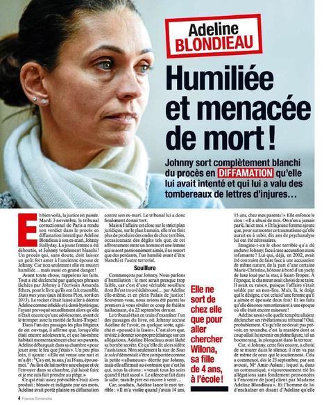 Adeline Blondieau humiliée et menacée de mort | | Vivlajeunesse | Scoop.it