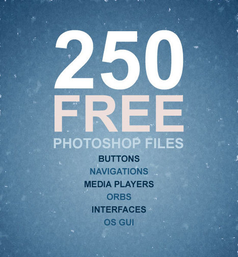 500+ Free PSD Graphics for Web Designers | photoshop ressources | Scoop.it