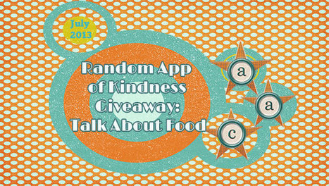 Random App of Kindness Giveaway:  Talk About Food | Communication and Autism | Scoop.it