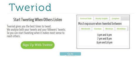 Descubre cual es la mejor hora para twittear con Tweriod | El código Gutenberg | El código Gutenberg news | Scoop.it