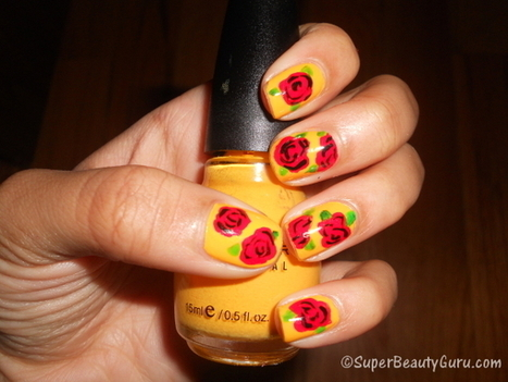 How to Create a Simple Rose Nail Design on Your Nails (Easy) - Super Beauty Guru | The Super Beauty Guru | Scoop.it