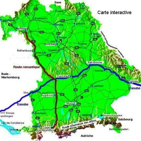 Carte interactive Bavière | Allemagne tourisme et culture | Scoop.it