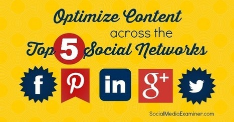 How to Optimize Your Content for the Top 5 Social Networks | | SEO, SMM | Scoop.it