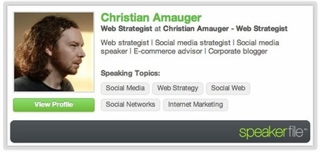 Speakerfile : une plateforme sociale pour les conférenciers   Christian Amauger - Stratège Web   regard sur le web social   Scoop.it