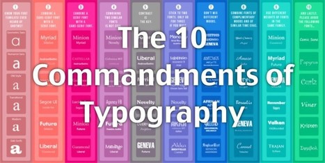 The Ten Commandments of Typography | Developing Apps | Scoop.it