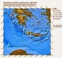 Ισχυρός σεισμός 6,4 ρίχτερ δυτικά της Κρήτης | Social in Greece | Scoop.it