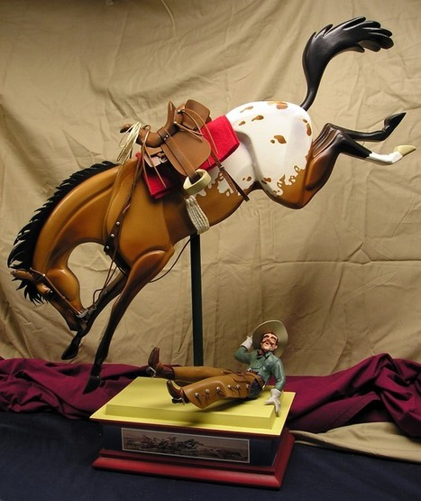 Throwed - Customized Rocking Bronc and Cowboy   Horse and Rider Awareness   Scoop.it