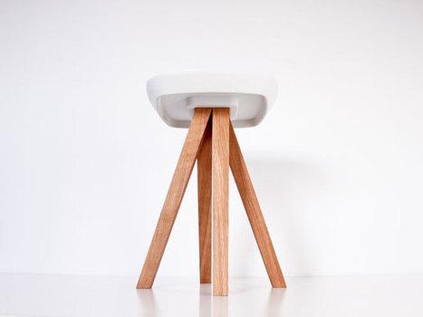 Ydin  a stool with just concrete and wood. By inoow design | Du mobilier, ou le cahier des tendances détonantes | Scoop.it
