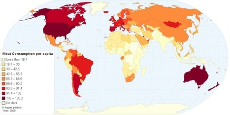 Current Worldwide Annual Meat Consumption per capita | Cooking | Scoop.it