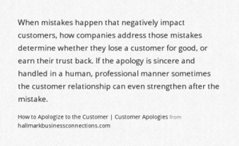 The beauty of a simple apology | Business in a Social Media World | Scoop.it