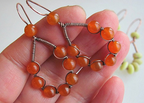 Bead and Wire Earrings Tutorial   Beads and Beading   Scoop.it