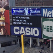 "Creepy: The Yankee Stadium scoreboard advertised something called ""Anal Kid Time"" tonight 