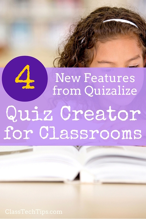 4 New Features from Quizalize: Quiz Creator for Classrooms - Class Tech Tips | Digital Learning Guide | Scoop.it