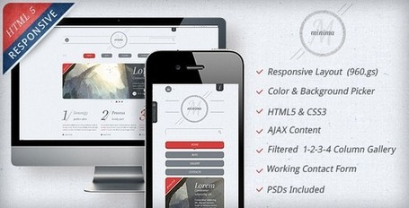 10 Great Responsive HTML5/CSS templates under 15$ | Graphic Design Inspirations | Scoop.it