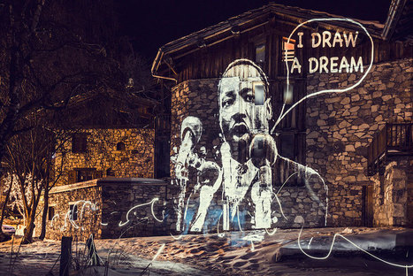 Philippe Echaroux Uses #Light #Projections To Create #StreetArt In France #art | Luby Art | Scoop.it