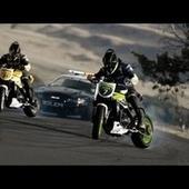 Motorcycle Vs. Car Drift Battle 2: Here Come The Cops   The DATZ Blast   Scoop.it