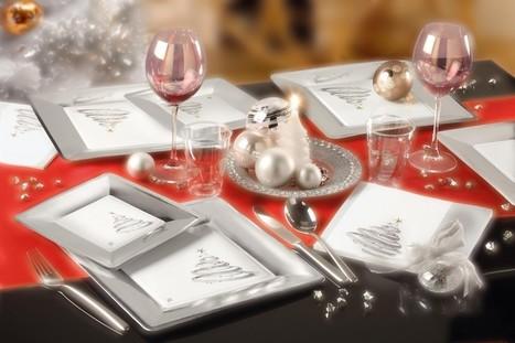 Decoration de table Noel : optez pour le blanc et l'argent ! | Blog RueDeLaFete | deguisement noel | Scoop.it