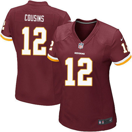 Womens Kirk Cousins #12 Game Burgundy Red Team Color Washington Redskins Nike Jersey On Sale in www.Redskinsjerseysteamstore.com | Washington Redskins Jerseys | Scoop.it