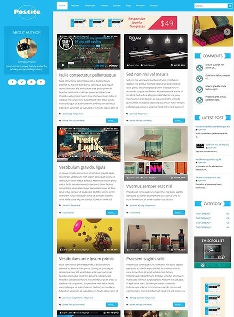 TM Postite - Responsive Blog Joomla Template | Free & Premium Joomla Templates and WordPress Themes | Scoop.it