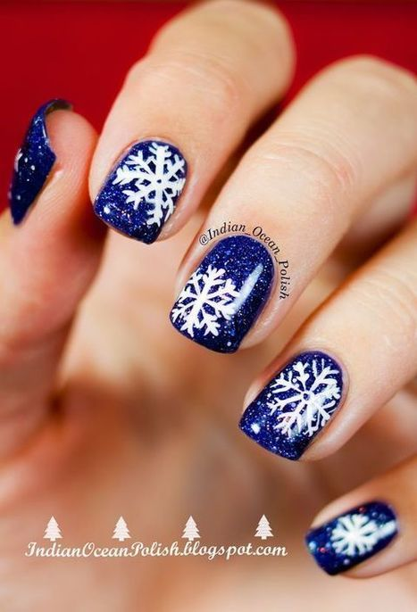 Christmas nails design 4 – Images and Pictures | Fashion Home decor Tattoos Beauty Pictures | Scoop.it