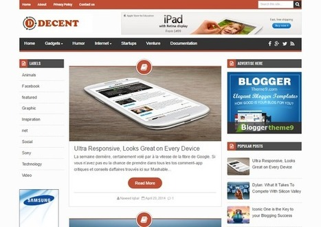 BTemplates: Decent Blogger Template | Blogger themes | Scoop.it