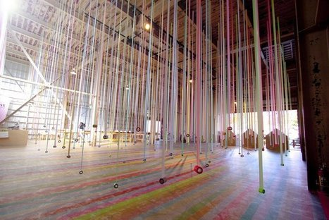 An installation of colorful masking tape | mt ex sendai | regard par la fenêtre de lestoile sur les arts | Scoop.it