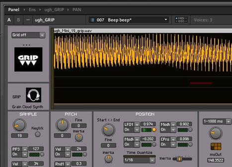 Ugh GRIP | Reaktor User Ensemble | Experimental music software and hardware | Scoop.it