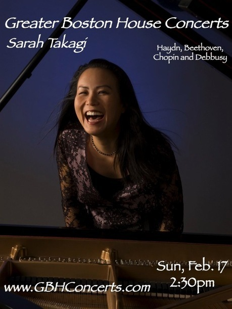 Pianist Sarah Takagi, Sunday 2/17 at 2:30 | About Town in Greater Uphams Corner | Scoop.it