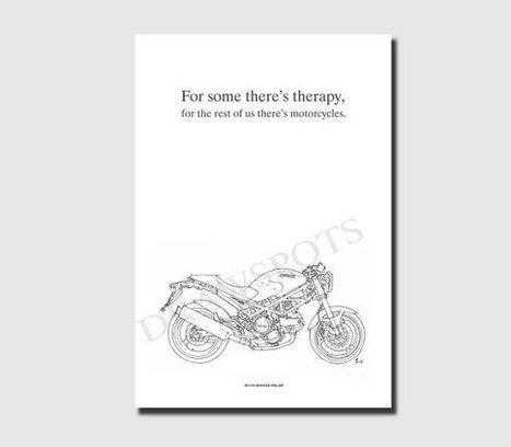 DUCATI MONSTER 695d 2007 QUOTE -Original Handmade Drawing Fine Print, 11.5x16 in. (29x41 cm), | Ducati Art | Scoop.it