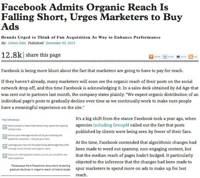 Facebook Marketing Declines: How Business Should React | Content Creation, Curation, Management | Scoop.it