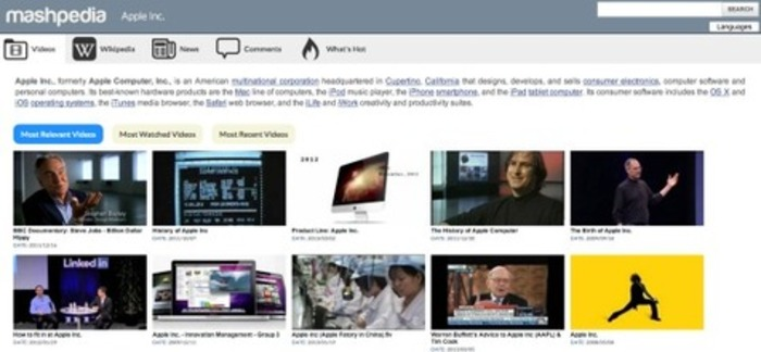 Mashpedia, a real-time discovery engine for the classroom and journalists | Business in a Social Media World | Scoop.it