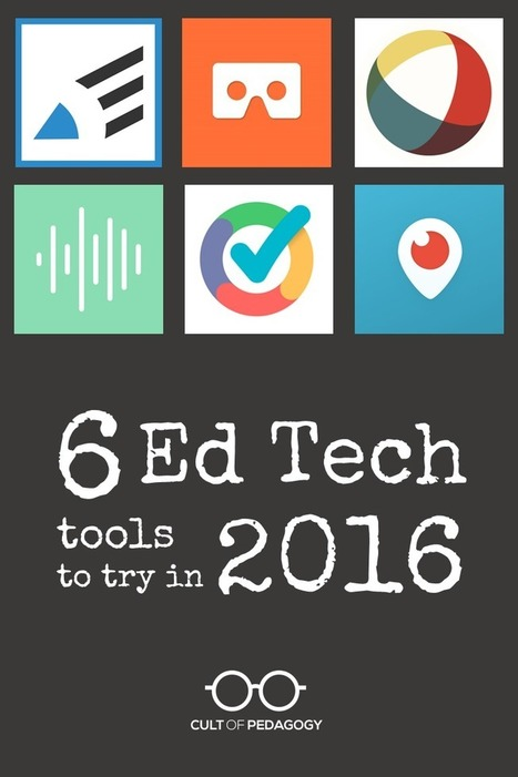 6 Ed Tech Tools to Try in 2016 | Transformational Teaching and Technology | Scoop.it