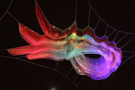 "Floating Sculpture ""1.8"" by  Janet Echelman 