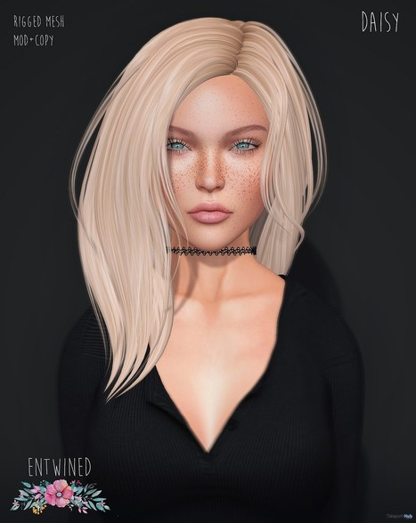 Daisy Hair Group Gift by Entwined | Teleport Hub - Second Life Freebies | Second Life Freebies | Scoop.it