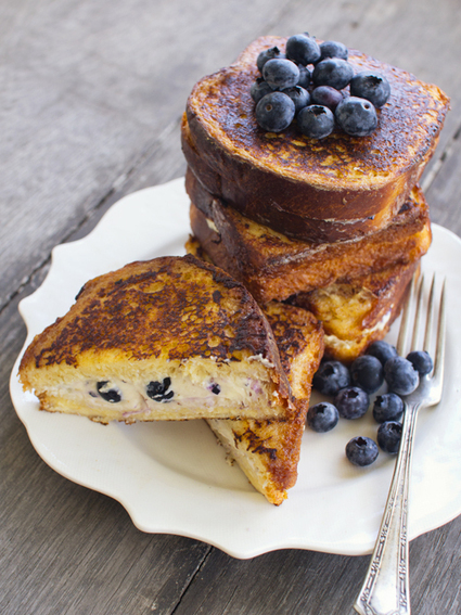 #RECIPE - Blueberry Cheesecake Stuffed French Toast | Middle Eastern Cuisine | Scoop.it