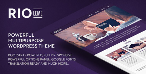 Multi-Purpose WordPress Theme With Sweet Options- RioLeme - WordPress For Musicians | pippo | Scoop.it