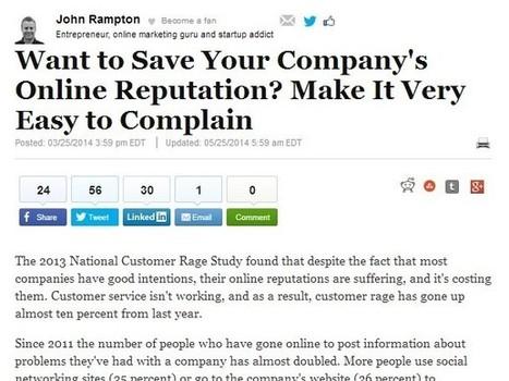 Online Reputation Management Makes It Easier to Address Complaints | Reputation Local | Scoop.it