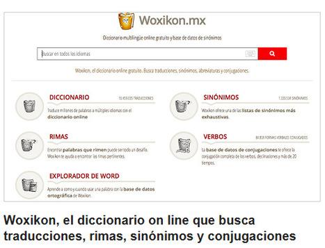 Woxikon, el diccionario on line que busca traducciones, rimas, sinónimos y conjugaciones | Recursos i eines TIC per a l'educació | Scoop.it