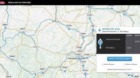 SNCF Maps : localisez précisément un train pour savoir s'il est à l'heure | Inspiration | Scoop.it