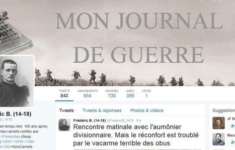 Haute-Garonne: 100 ans après, le poilu Frédéric B. twitte au jour le jour son vrai journal de guerre | Nos Racines | Scoop.it