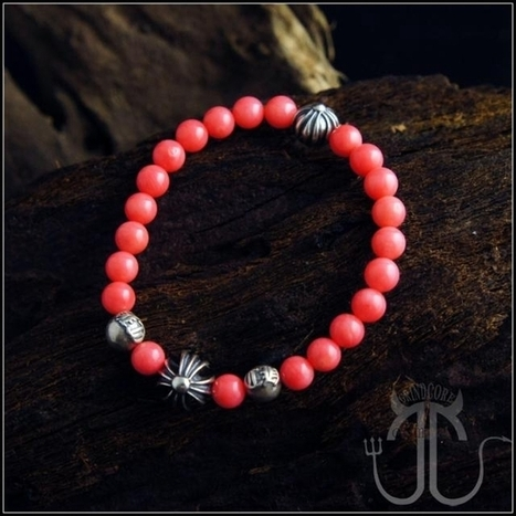 Chrome Hearts Bracelet Red Coral Cross Beads | nice website | Scoop.it