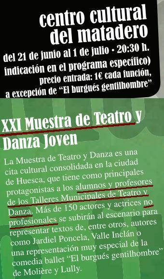 XXI Muestra de Talleres de Teatro y Danza de Huesca 2012 | Teatro en la escuela | Scoop.it