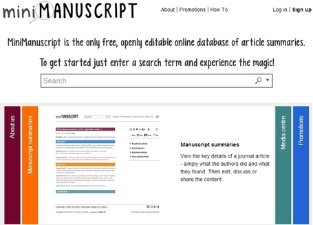 MiniManuscript, la Wiki para los resúmenes de manuscritos « Actualidad Editorial | Pedalogica: educación y TIC | Scoop.it