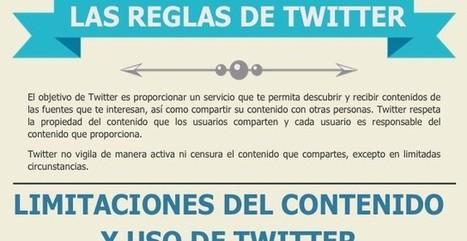 Infografía en español para conocer las reglas de Twitter | Educacion, ecologia y TIC | Scoop.it