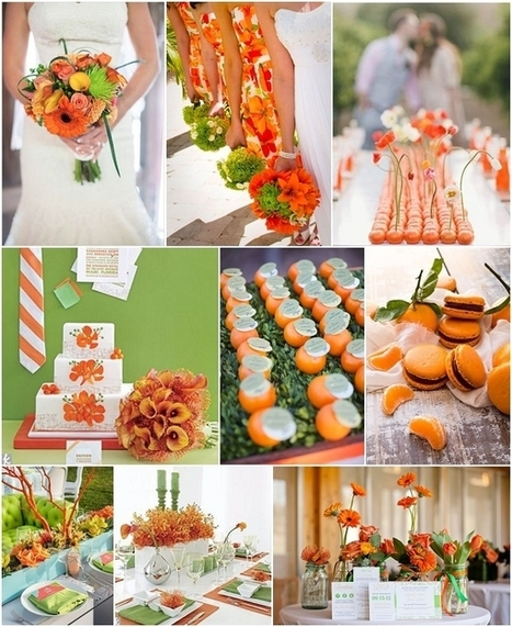 Tangerine and Wasabi wedding ideas | French Wedding Inspiration | Scoop.it