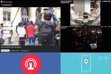 Periscope et Facebook Live: les journalistes peuvent-ils échapper au direct? | DocPresseESJ | Scoop.it