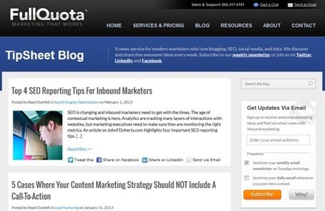 39 Fantastic Inbound Marketing Blogs You Ought to Be Reading | Vanguard Social's Content Cauldron | Scoop.it