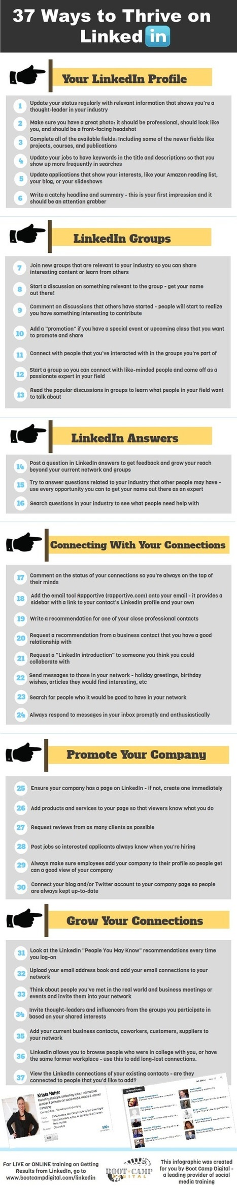 37 Ways to Thrive on LinkedIn [Infographic] | Awesome Tips | Scoop.it